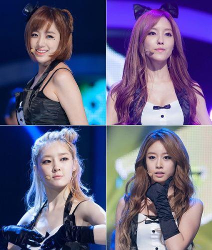 恩靜、孝敏、智研和雅琳組成T-ara小分隊