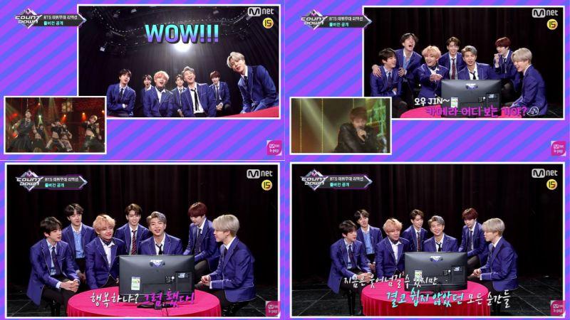 BTS防彈少年團看出道舞台Reaction!j-hope:不覺得那時候的眼神充滿狠勁嗎?V:因為眼線畫得很濃