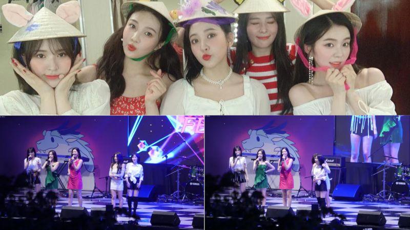 因沒有準備伴奏,Red Velvet在大學校慶上直接清唱兩首!成員們展現了穩定的Live實力!
