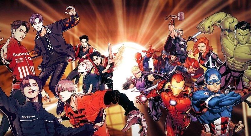SuperM與Marvel合作!計劃推出聯名周邊商品