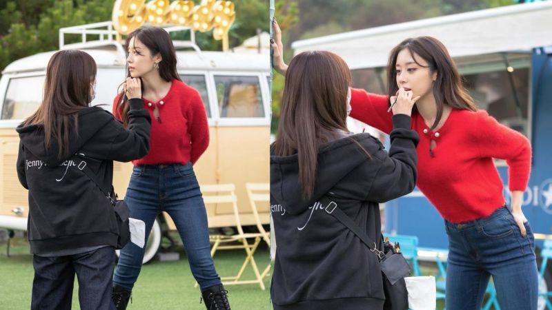 女生也有manner腿!T-ara朴芝妍自降身高+「壁咚」化妝師,網友大呼:太心動!