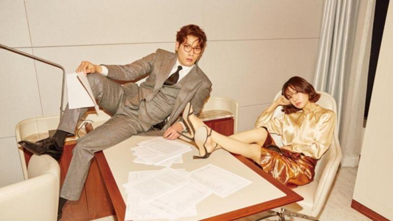 《Jugglers》崔丹尼尔&白珍熙情侣画报公开 拍摄现场上演办公室的诱惑!?