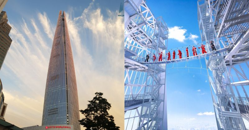「新景點!」樂天世界塔Skybridge:挑戰在541公尺高空上的刺激