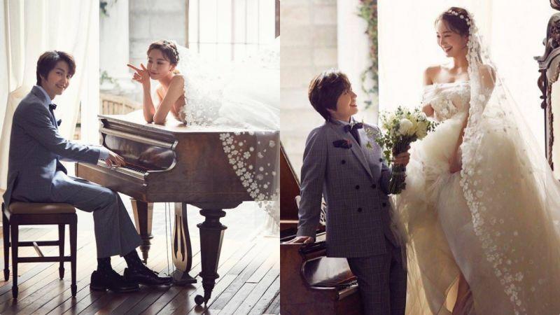 看到這組婚紗照差點以為BTOB鄭鎰勛結婚了!!新娘原來是她啊