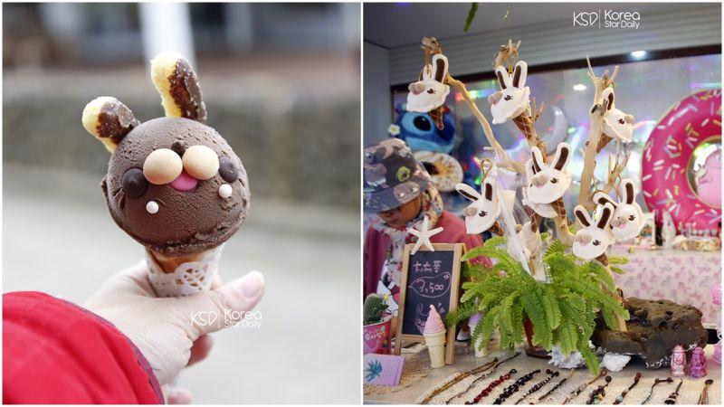 【濟州島景點】濟州島打卡熱點    最可愛的兔子冰淇淋+章魚雞蛋糕