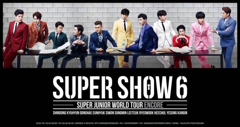 Super Junior7月在首爾辦SUPER SHOW6安可演出 藝聲回歸