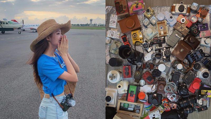 不愧是相機富人!孝敏曬出100台相機收藏,預告將開設YouTube頻道