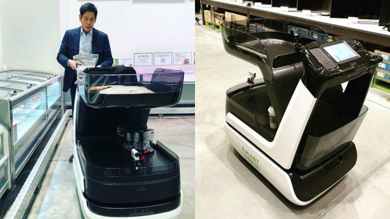 忘掉普通的超市手推車吧,韓國智能購物車有望普及!