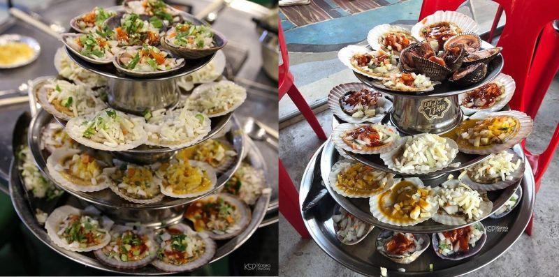 釜山烤貝不稀奇,多層烤貝塔你看過嗎?