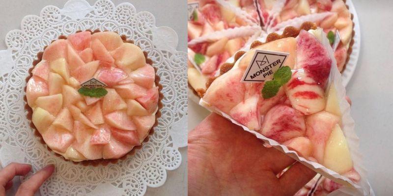 夏季限定!海雲台MONSTER PIE推出夏日蜜桃水果派