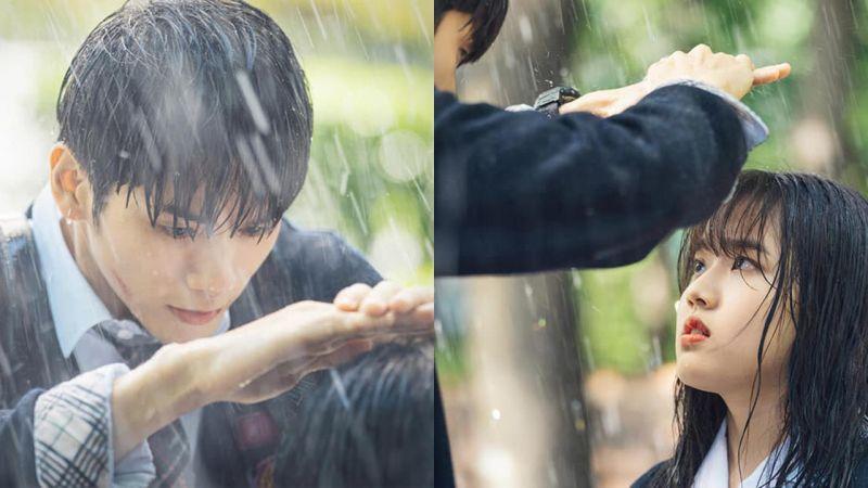 《18歲的瞬間》邕聖祐為金香起遮雨,只有這個身高差距才能營造的浪漫畫面!