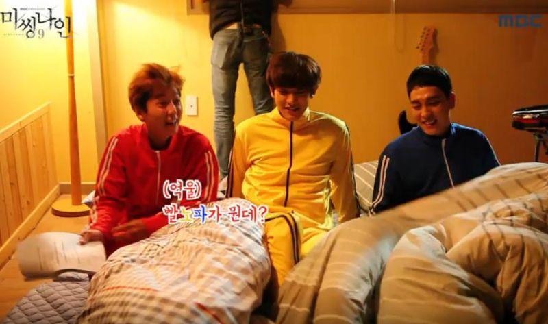 《Missing9》EXO燦烈、崔泰俊、鄭敬淏激烈的紅黃藍床位爭奪戰
