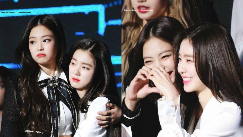 Red Velvet Irene直接撲在 BLACKPINK Jennie的懷裡!甜蜜羨煞旁人❤