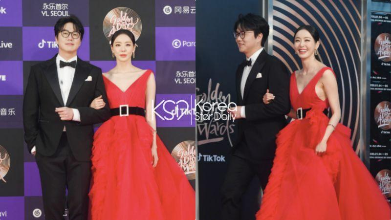 李多熙在《金唱片奖》一袭红裙惊艳全场,其实裙子下面穿的是...这样的搭配只能说「腿长任性」