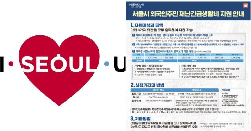 在韓打工簽的朋友看過來 首爾市政府提供外國人災難緊急生活費