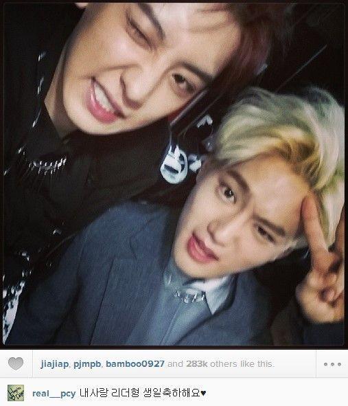 EXO成員Instagram祝賀隊長SUHO生日