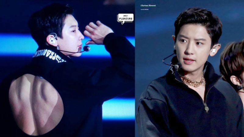 《2018 SBS歌謠大戰》EXO燦烈的露背•肌•裝盡顯反轉魅力,大秀壯碩背肌!