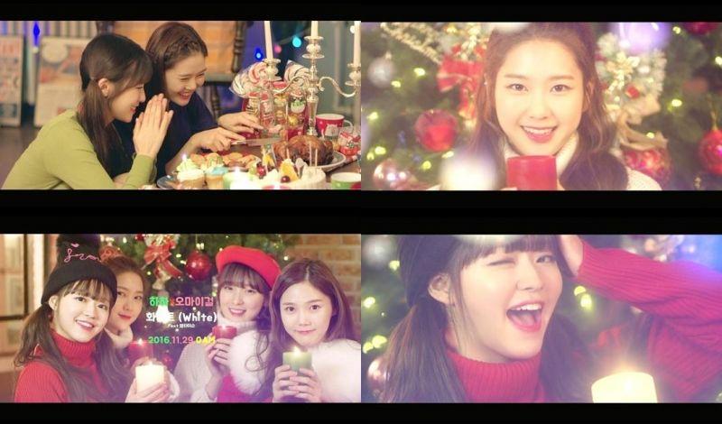 OH MY GIRL《White》聖誕風MV預告片公開