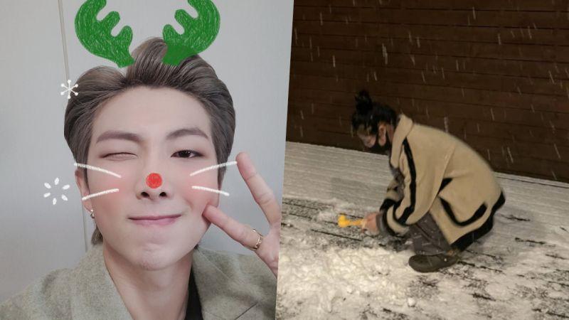下雪天就是要做「小鸭雪球」!防弹少年团RM做了7只「防弹小鸭」,MAMAMOO辉人开心到跳起来