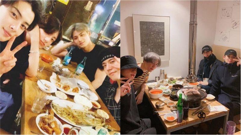 超有愛的「97LINE」聚餐啦!田柾國、車銀優、金珉奎、金有謙公開合照