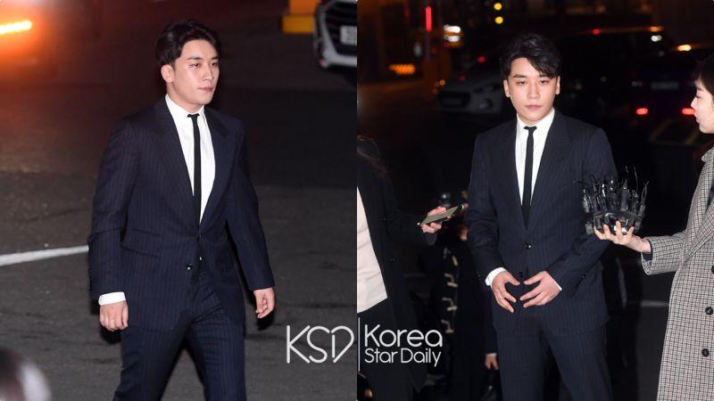 BIGBANG勝利主動現身警署接受調查,通宵問詢再出現時面容憔悴