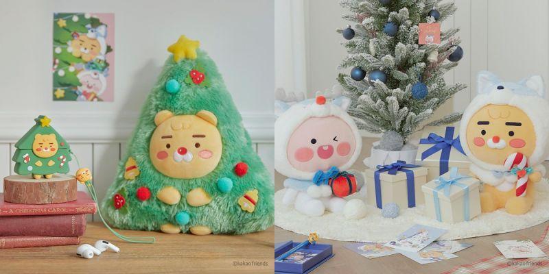 KAKAO圣诞系列,Ryan鲁道夫+圣诞树造型、小麋鹿Apeach超吸睛