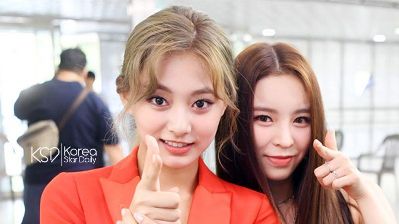 台妹X港妹的友谊!TWICE子瑜和CLC Elkie在颁奖典礼后台玩游戏~