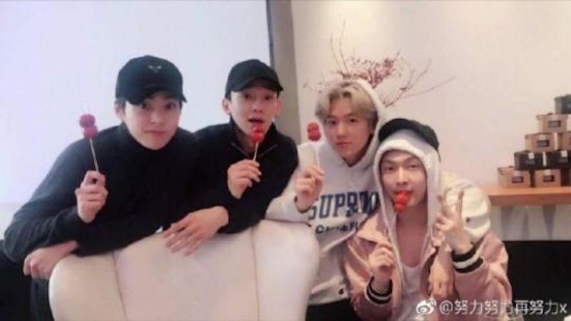 EXO-CBX&张艺兴好久不见  北京相聚吃冰糖葫芦