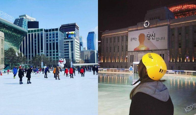 【首爾景點】「來著會去韓國的朋友又多個好去處」睽違兩年~首爾廣場溜冰場再次開幕!
