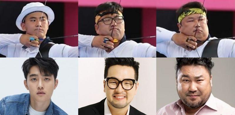 【奧運話題】韓國射箭男團如果拍成電影的完美選角:都敬秀、金泰宇、高昌錫,相似度高達99%