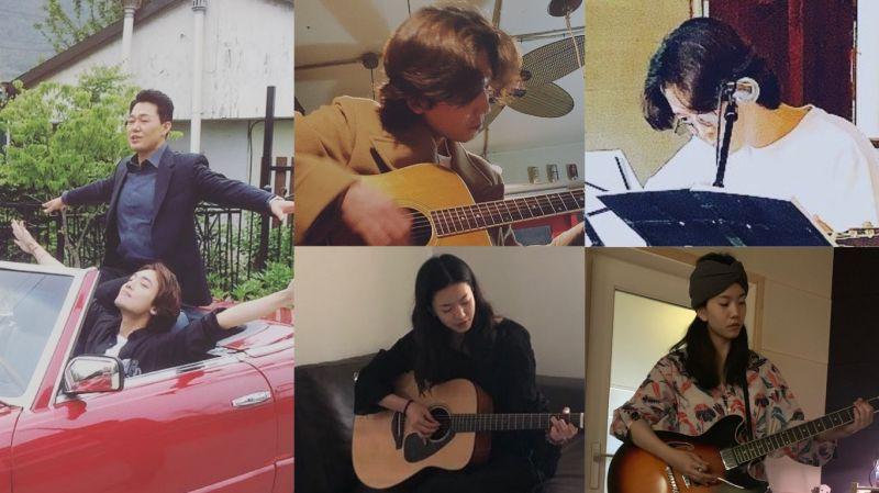 「火星CP」再合作《當惡魔呼喊你的名字時》!鄭敬淏變身為作曲家 演員們勤練吉他引發期待