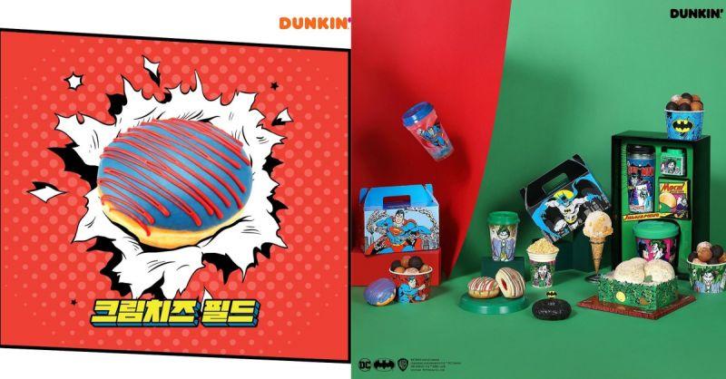 DC迷看過來!韓國Dunkin Donuts推出超人、蝙蝠俠各式周邊