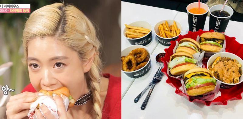 来韩必吃!很邪恶!这三层牛芝士汉堡有谁受得了啊?