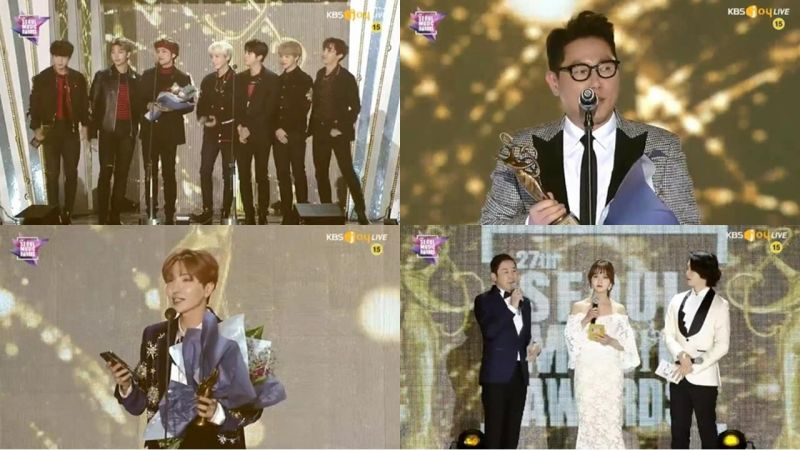 第27届《首尔歌谣大赏》完整得奖名单!防弹少年团夺下「大赏」