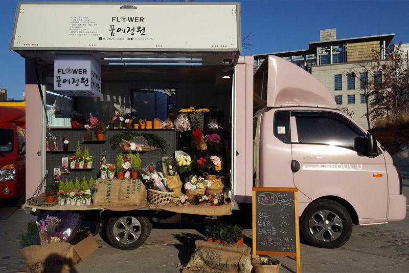 首尔青年创业Flower Market:前进汉江、校园与鬼怪夜市场!