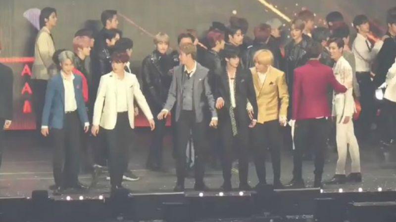 「2018 AAA」GOT7 BamBam超有sense!Feat.BTS防彈少年團
