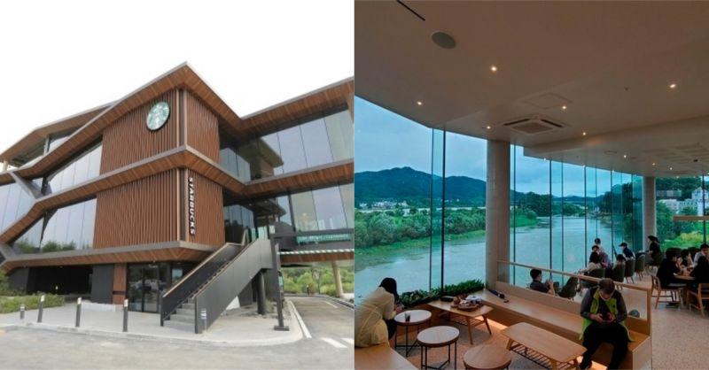 韩国将开幕的Starbucks:咖啡与南汉江美景的结合!