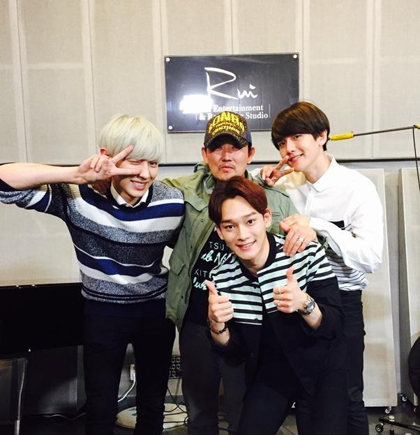 EXO伯賢、CHEN、燦烈為《我是大韓民國》錄製主題曲 燦烈首次金髮造型?