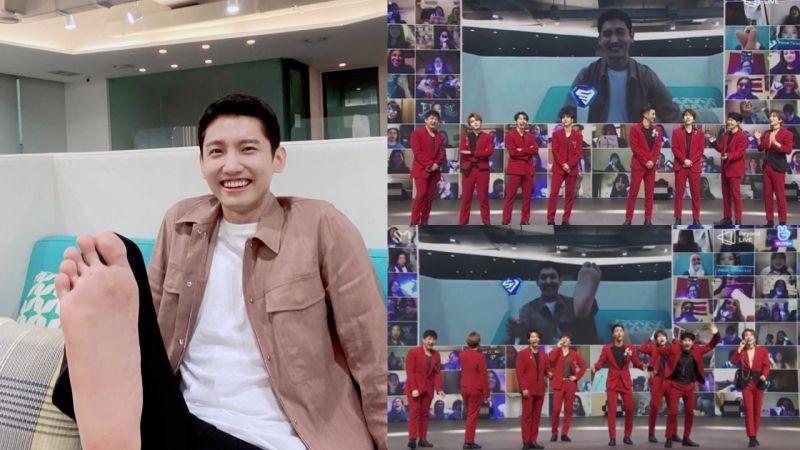 東方神起昌珉光腳看Super Junior演唱會   PO照認證超開心!