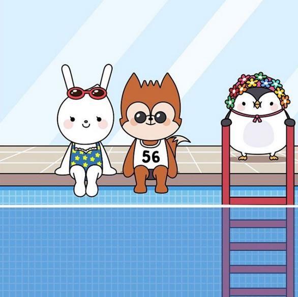 《太陽的後裔》動漫形象再更新 泳池旁的宋宋CP
