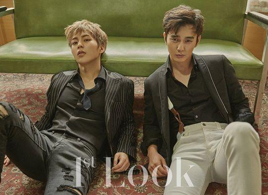 俞承豪&XIUMIN最新《1st Look》写真 氛围美男「骗子兄弟」