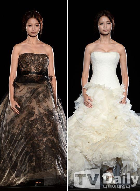 河妍秀出席Vera Wang婚紗展 氣質優雅判若兩人