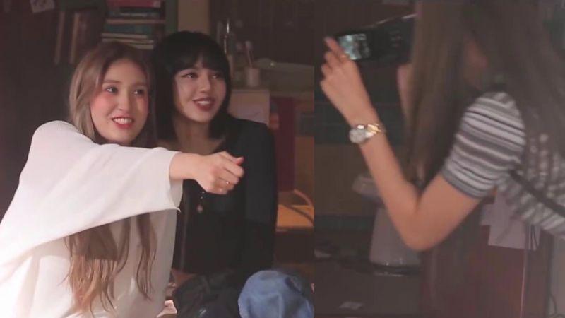 BLACKPINK Jisoo和Lisa探班!Somi新歌MV拍摄现场