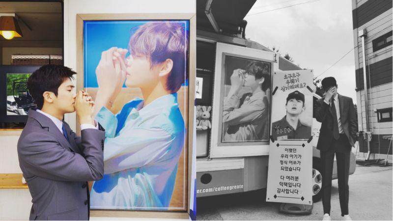 防彈少年團V為朴炯植送上應援咖啡車,卻讓朴敘俊表示:「這種程度還好嘛...我不會忘記的金泰亨」