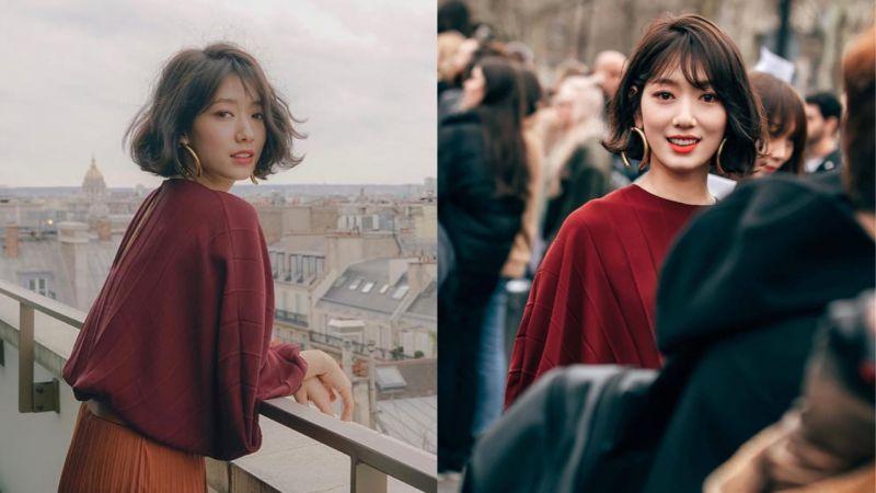 到底哪里胖了?朴信惠巴黎时装街拍照、近况照公开,这根本就是短发女神啊!