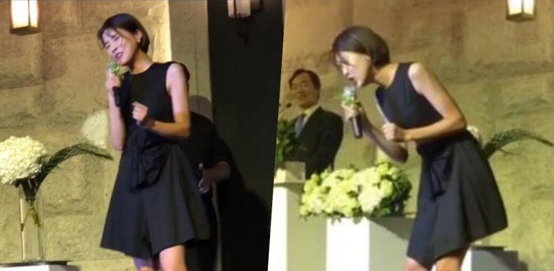 是來砸場子嗎? 諧星張度妍在別人婚禮上唱歌真的太搞笑了