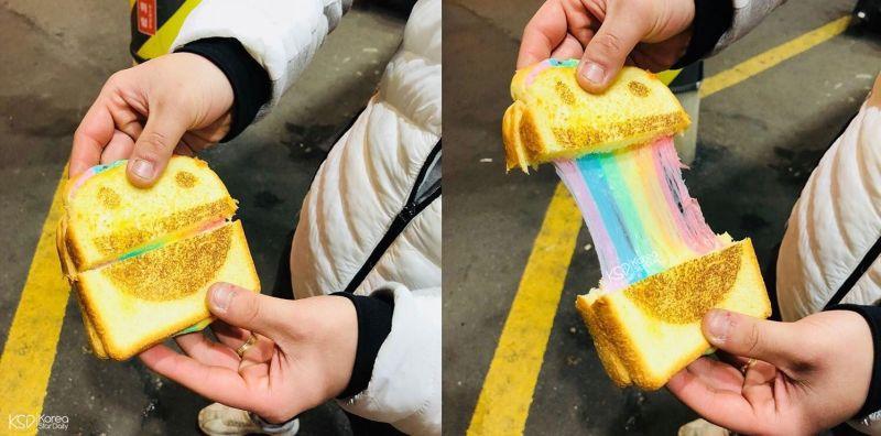 釜山新奇美食:彩虹起司噴泉吐司有多牽絲呢?