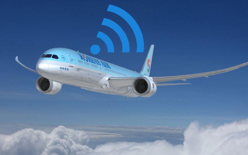 空中也可以用WIFI了!大韓航空明年開始提供機內WIFI~