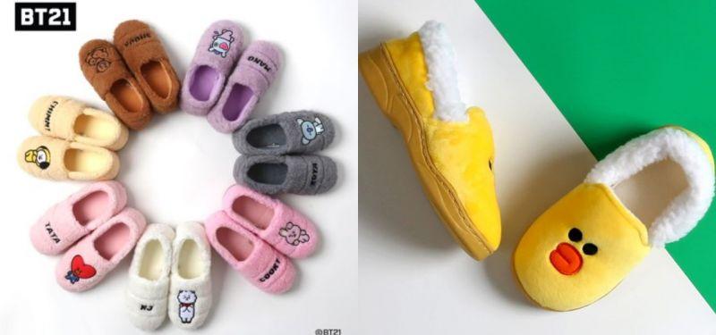 禦寒必備BT21、LINE FRIENDS毛茸茸鞋款上市
