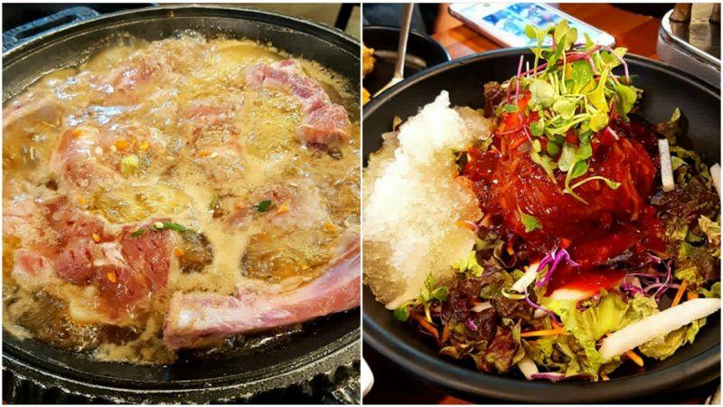 【弘大必吃】超佛心人气美食店家~酱料排骨吃到饱,还有拌冷面跟生牛肉拌饭!